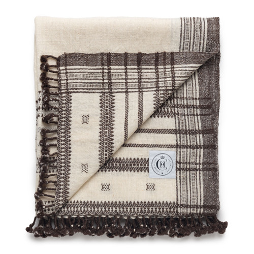 Hand Loomed Indian Spun Wool- Ivory