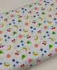 A really bright and cheery poplin fabric, Last 2.35 metres, 100% cotton,  145 cm wide, Has OEKO-TEX standard 100 , Meaning this fabric is suitable for children's clothing , Wash at 30 degrees, Priced per metre