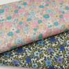 Two lovely floral fabric in soft pastel shades and blues and purples, Ideal for dresses, shorts, skirts, shirts and more, 100% cotton, 112 cm wide, Wash at 30 degrees, See photos for matching piping and threads,