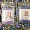 Rose & Hubble floral blues and purple shades fabric with matching piping and threads