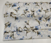 End of roll piece, A lovely soft cream cotton with cornflower flower blue flowers and cut spot, Ideal for blouses, dresses and more , 100% cotton, 147 cm wide Matches Cornflower blue piping , Take care if using iron on dots as the cut spot gives an uneven surface, DMC 341 is a good match for this fabric