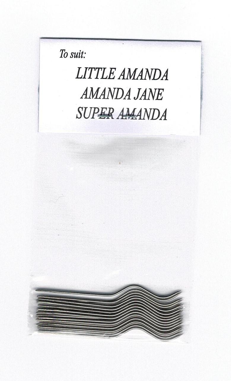 Original Amanda Jane and Super Amanda and Little Amanda Smocking pleater needles Available as packs of 12 or 24 needles