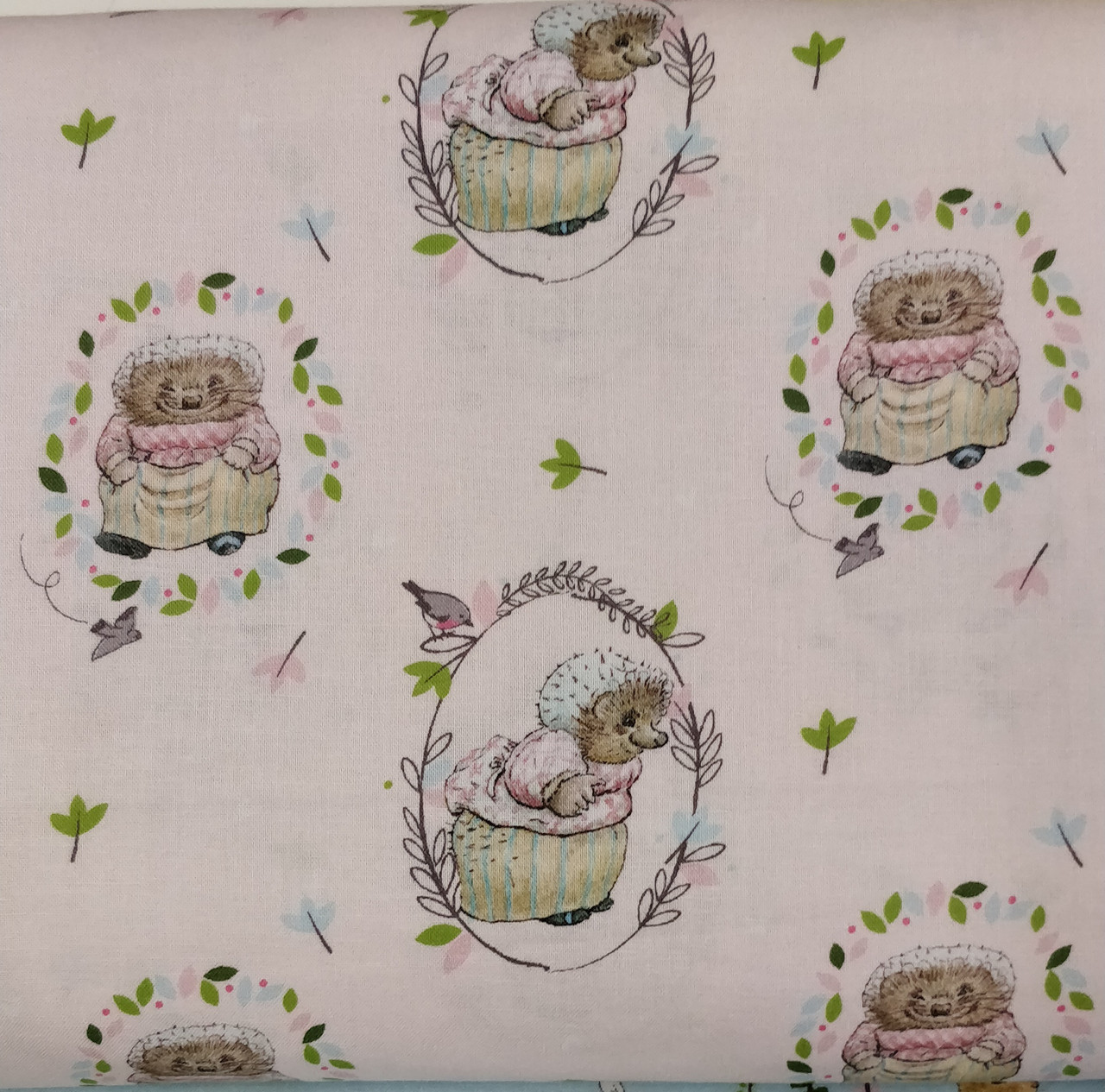 "Mrs Tiggy Winkle 100% cotton fabric 44"" wide Not intended for children's sleepwear"