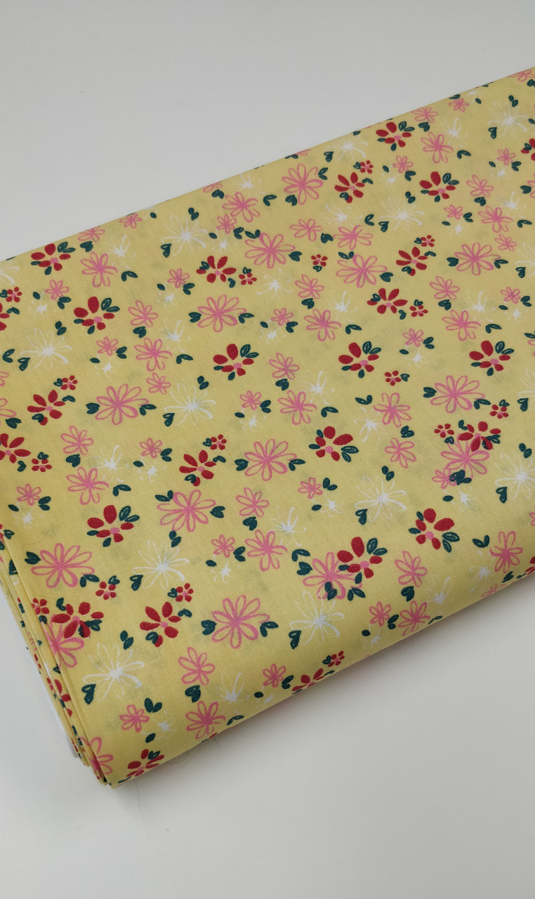 Upload New Product Images Drag & Drop your product images here  or  Select images from your computer  Use images from the web Use images from your gallery  Product Images Delete Selected Select AllImageDescriptionUse as Thumbnail?Action Select Product image A lovely fresh floral 100% cotton poplin, Available in three colours,  Pink Green or yellow, Ideal for dresses, children's sleepwear and more 145 cm wide, Wash at 30 degrees, Comes with the OEKO-TEX standard 100 , making it suitable for children's sleepwear, Priced per metre