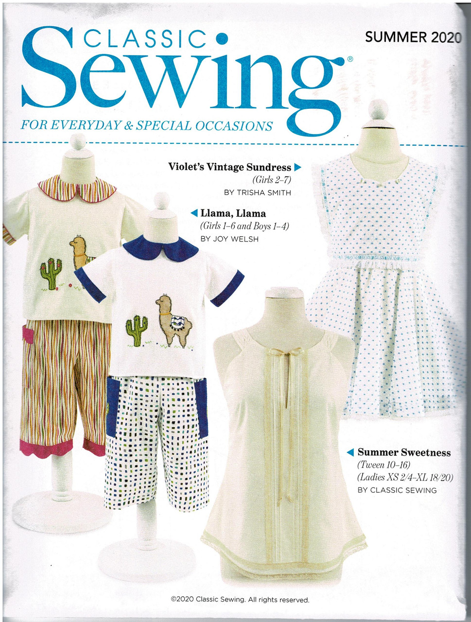 Classic Sewing magazine Summer 2020 - sewing pattern included