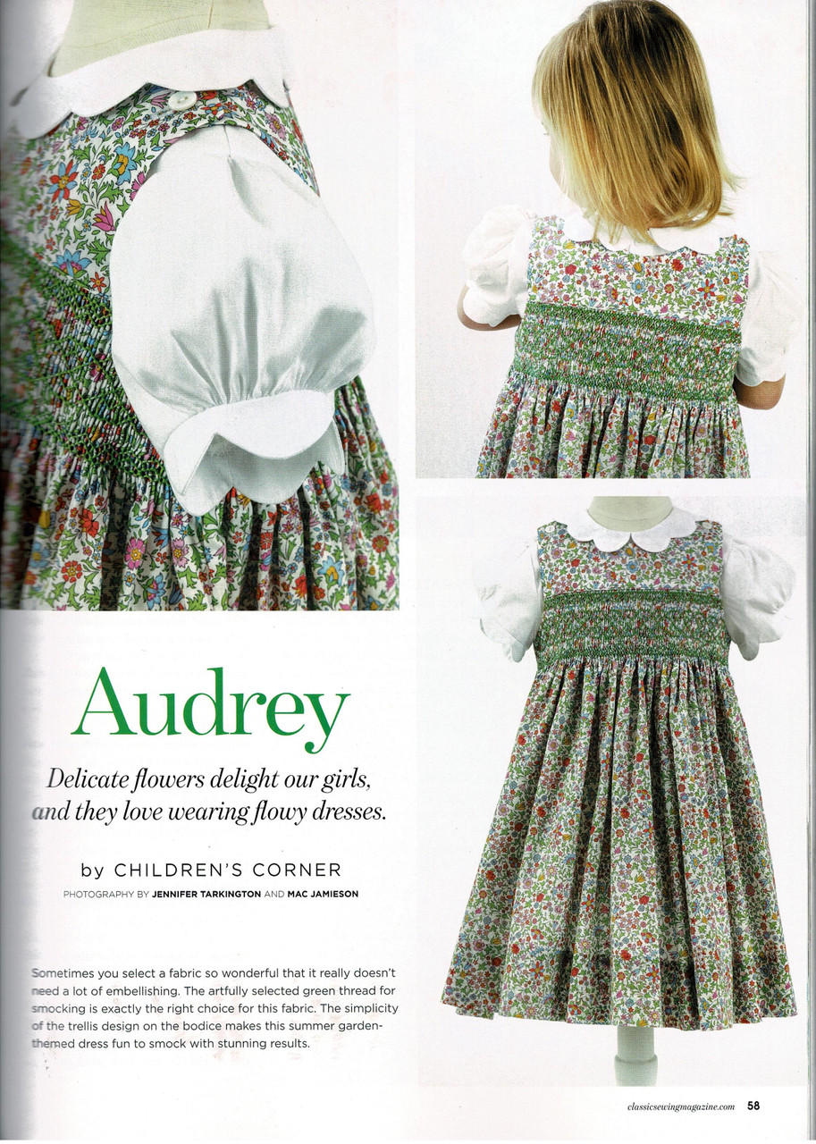Classic Sewing magazine summer 2020 smocking design