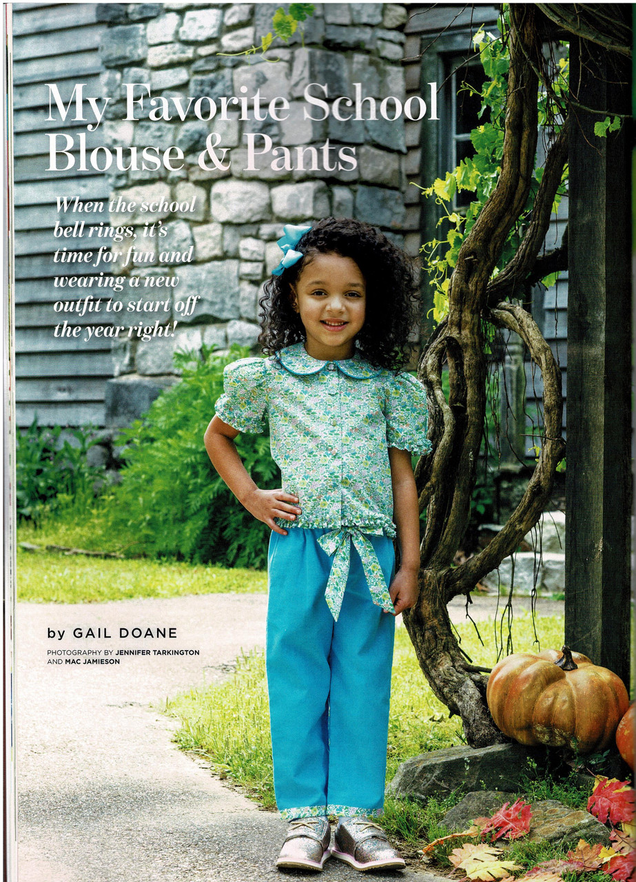 Girl's Blouse and pants from Classic sewing magazine Autumn 2020