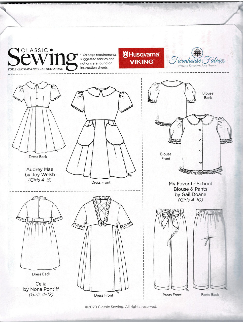 Pattern included in the Classic sewing magazine Autumn 2020