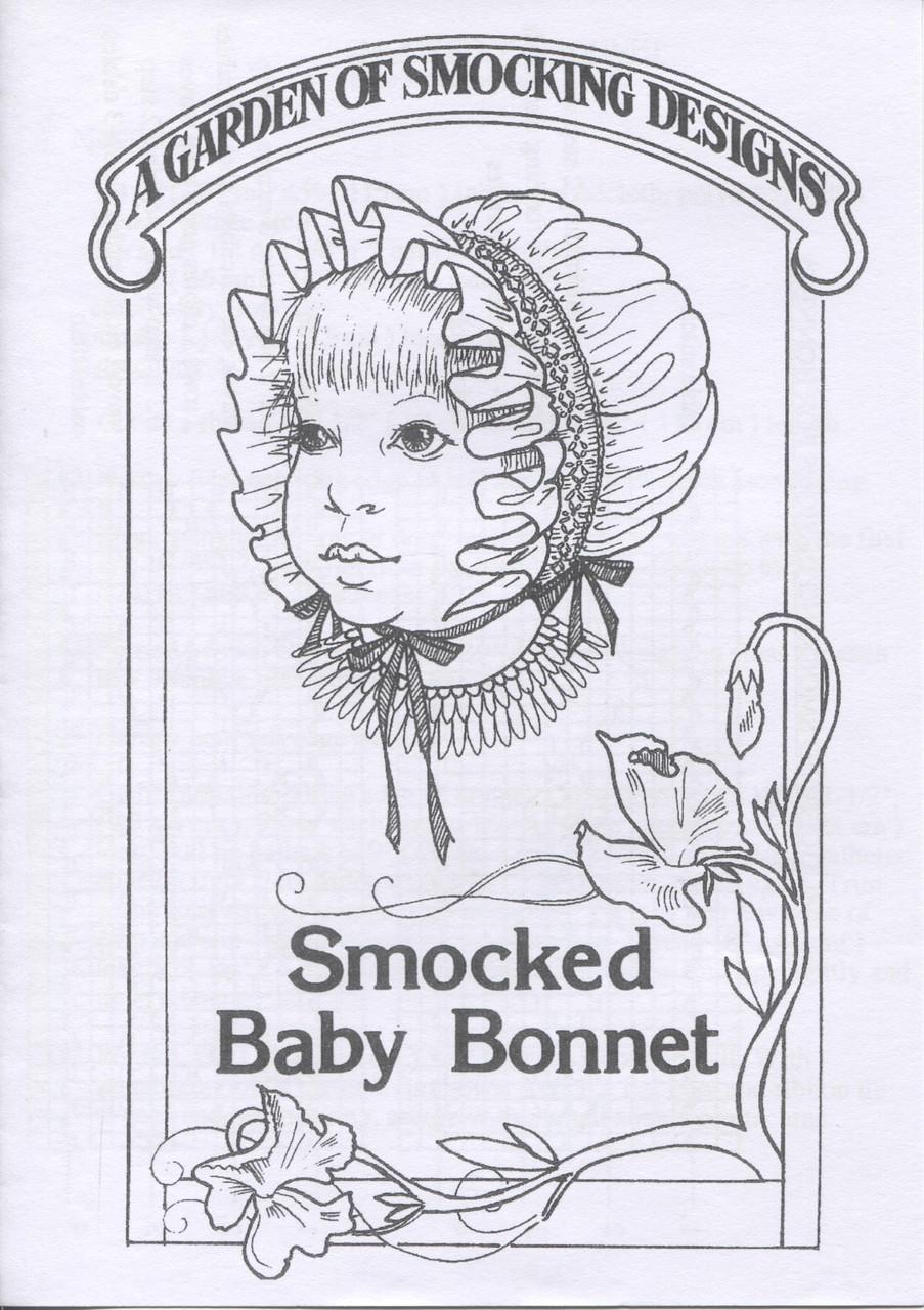 Downloadable - Smocked bonnet pattern by Garden of Smocking