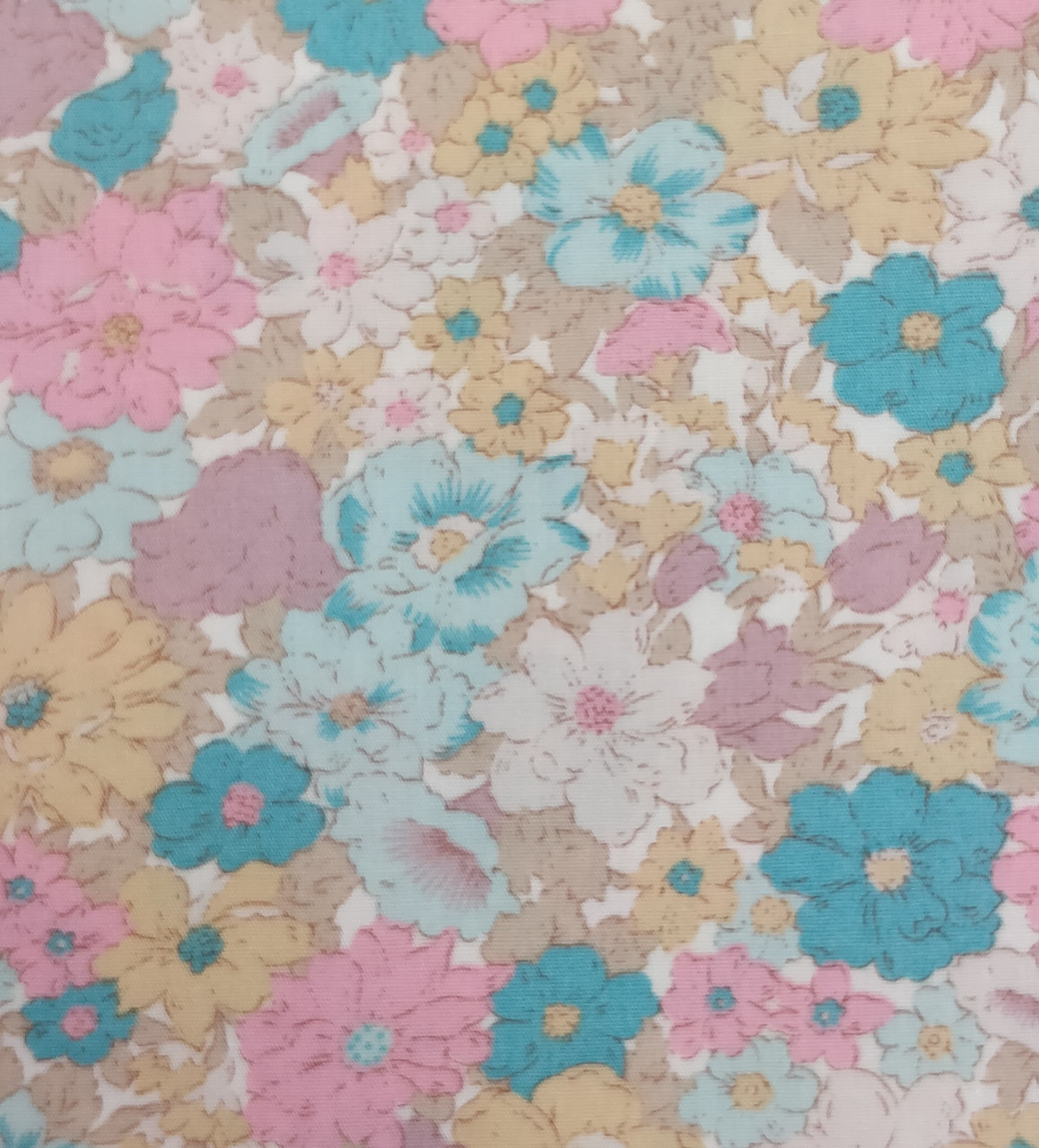 Rose & Hubble cotton fabric in pastel shades