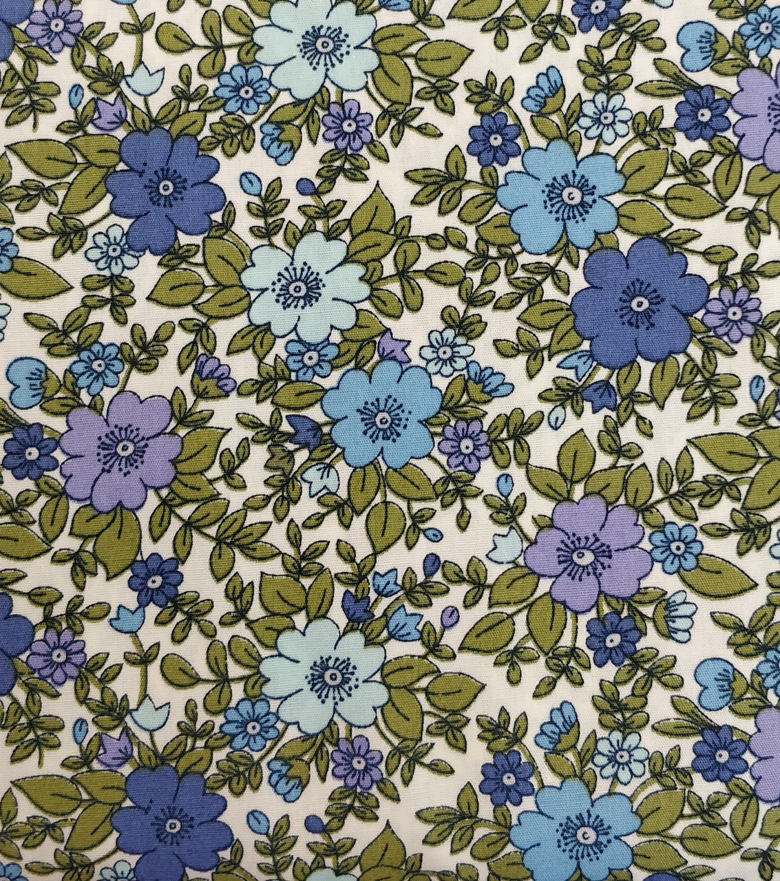 Rose & Hubble fabric in blues