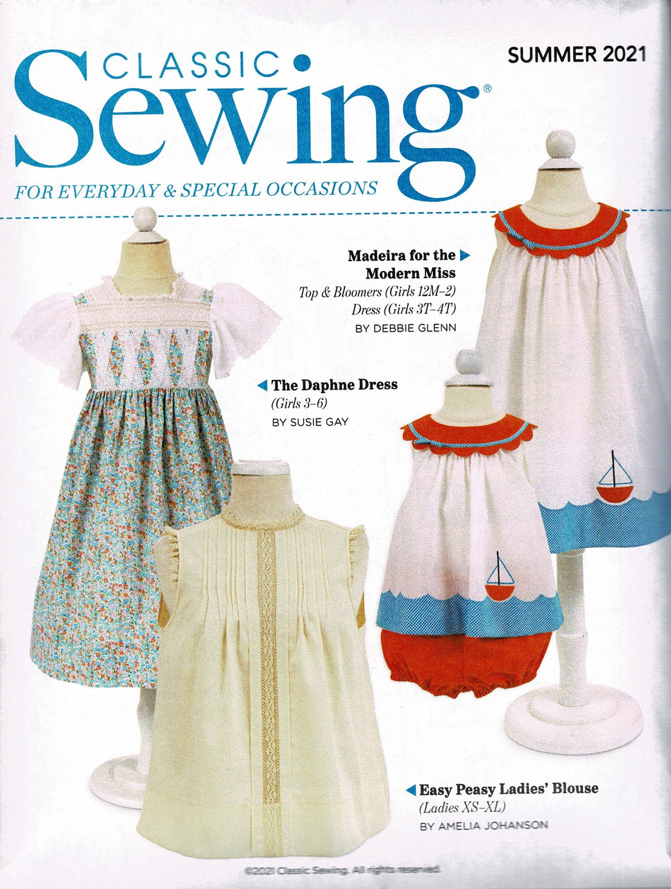 Sewing pattern that comes with the Summer 2021 Classic Sewing magazine