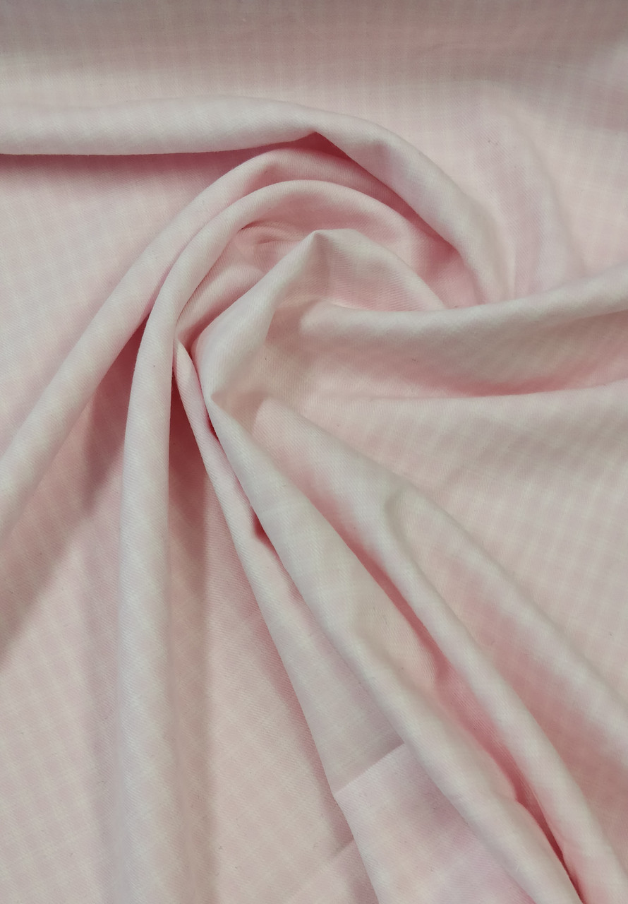 Brushed cotton in pink check, 100% cotton, Really soft to the touch, 148 cm wide, Wash at 30 degrees, Great for shirts, dresses and so much more