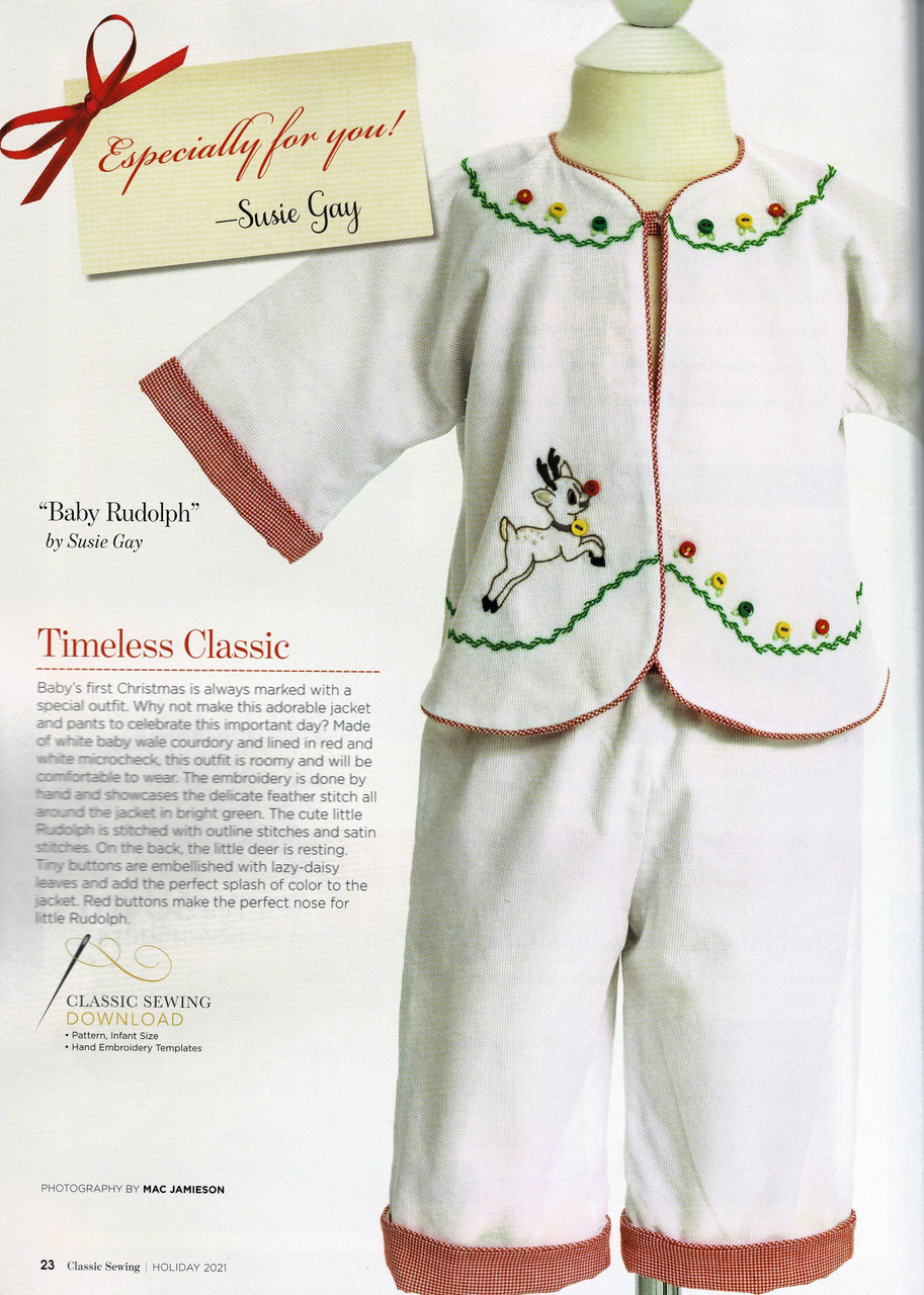 Baby Rudolf pattern downloadable from the magazine