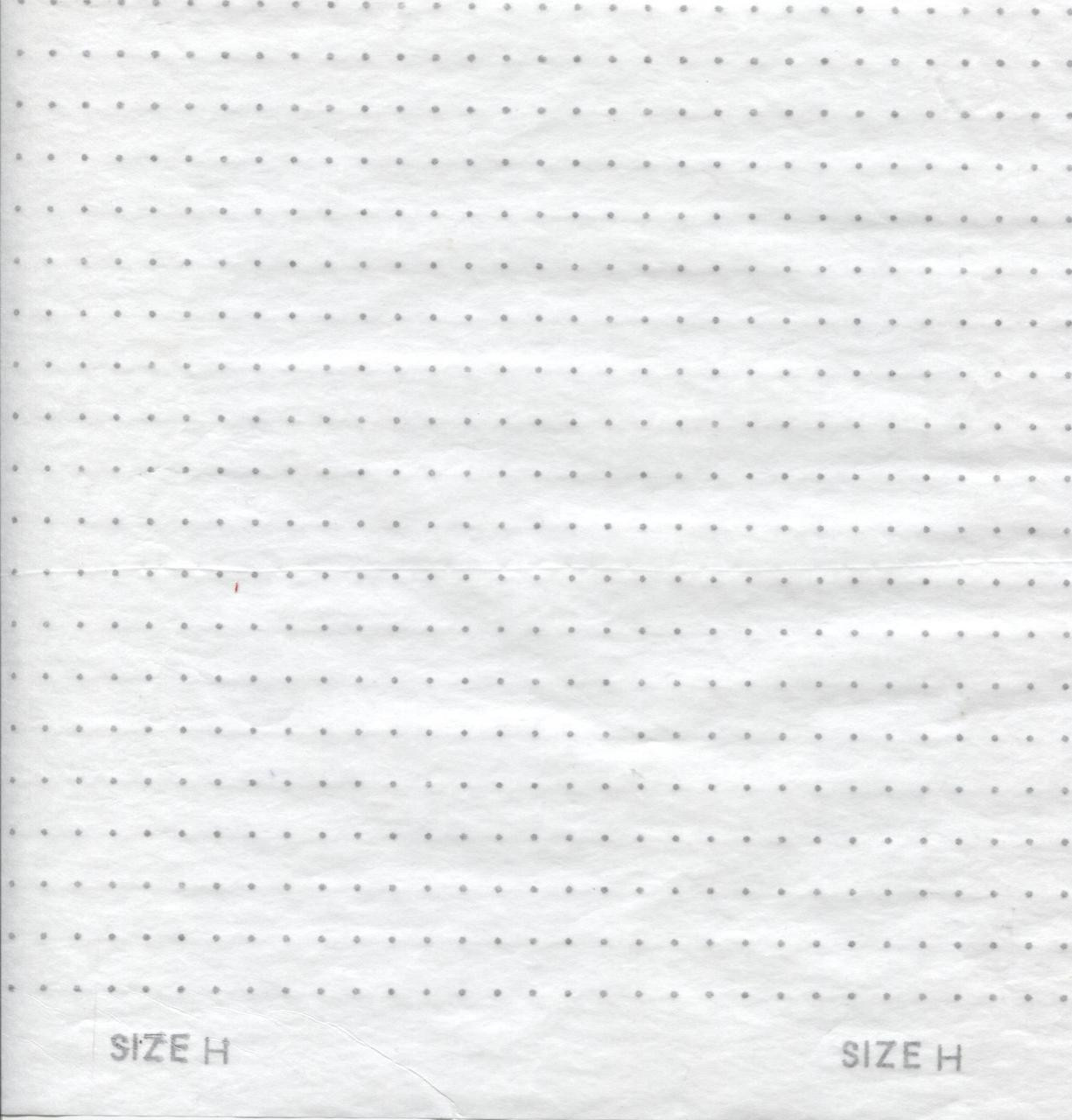 Smocking Transfer Dots - Size 'H' 6.5 mm x 9.5 mm - Use this size for girl's dresses - see video on how to use - one sheet in each pack