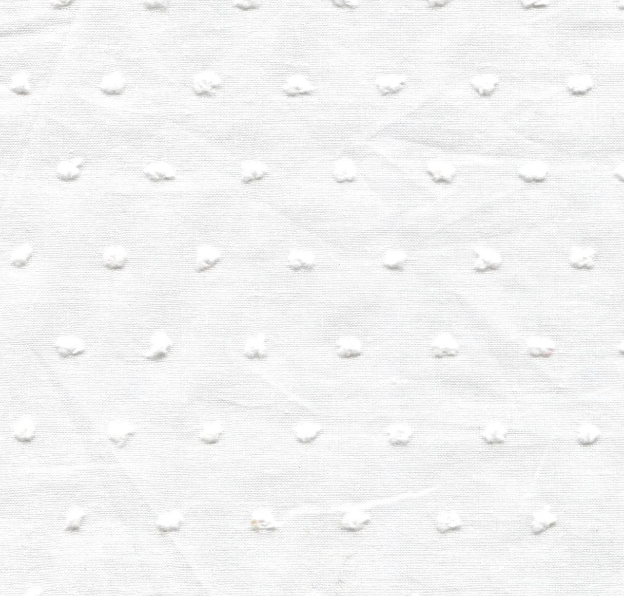 White Cut Spot 100% Cotton fabric by the metre