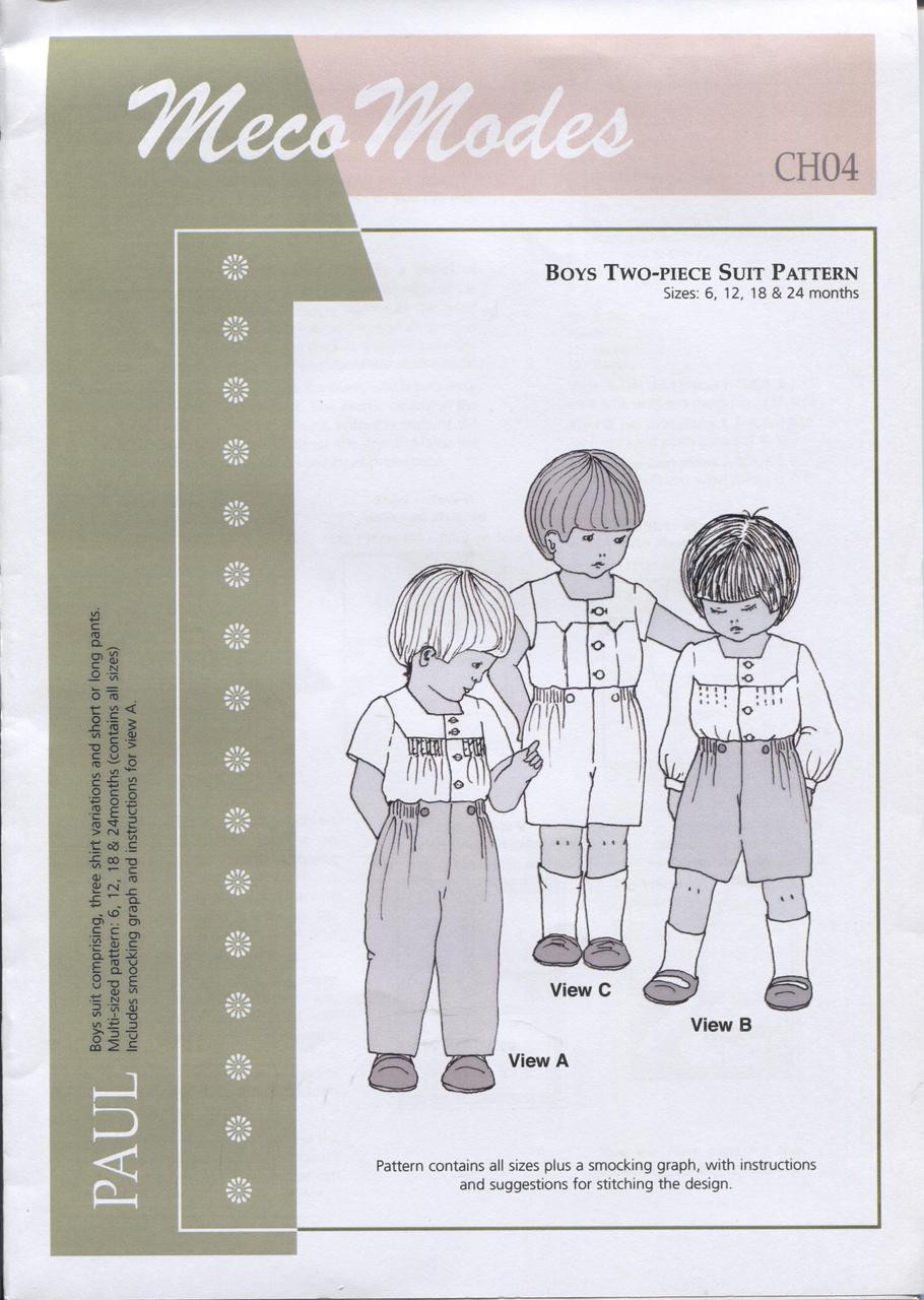 Paul Smocked boy's suit by Meco Modes