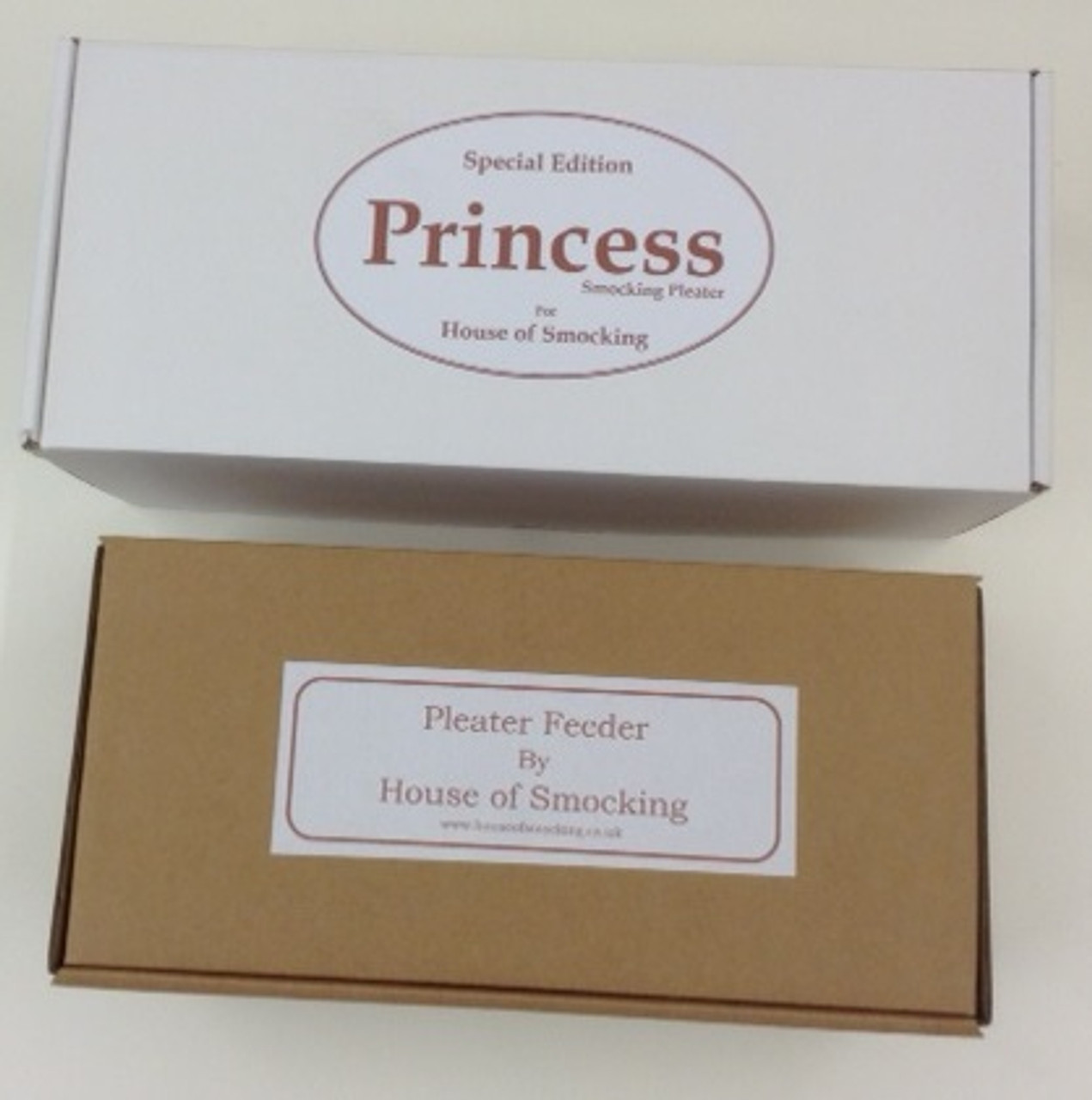 Princess Pleater and Feeder storage boxes