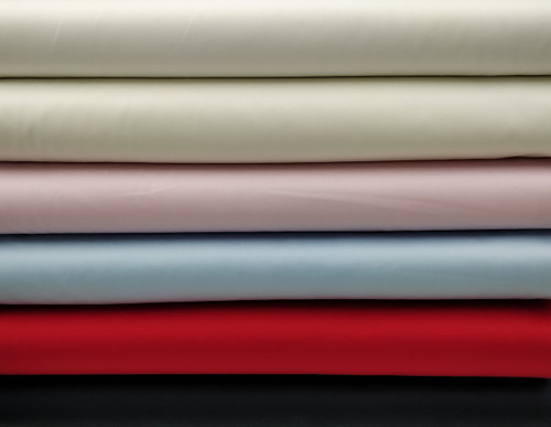 Pima sheen sateen 100% cotton in White, Ivory, Ecru, Pink, Blue, Red and Navy 112 cm wide Priced per metre, see photos for thread and piping suggestions