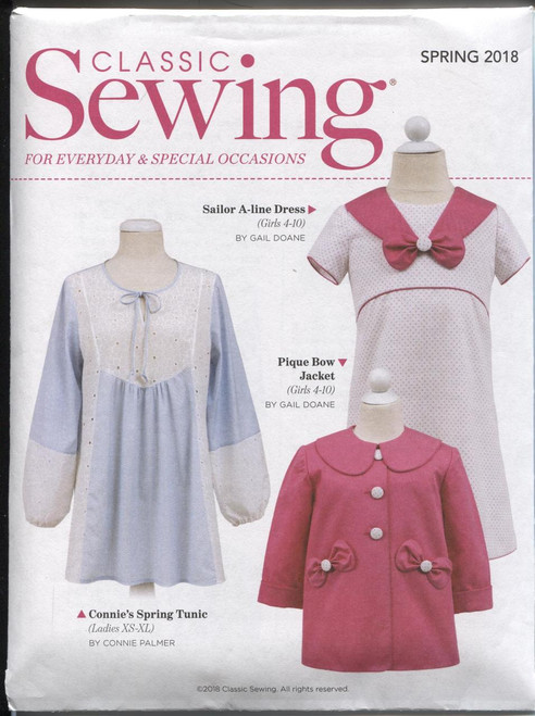 Classic Sewing magazine Spring 2018 - Sewing pattern included