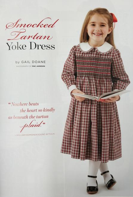 Classic Sewing Magazine Autumn 2108 Victoria Tartan smocked dress