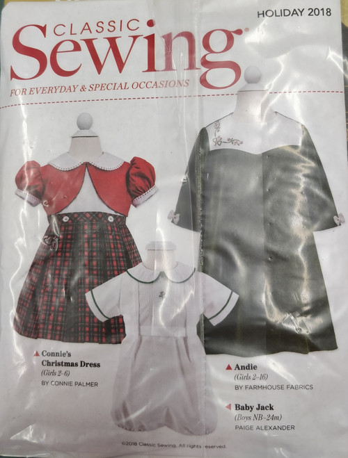 Classic Sewing Magazine Holiday 2018 patterns