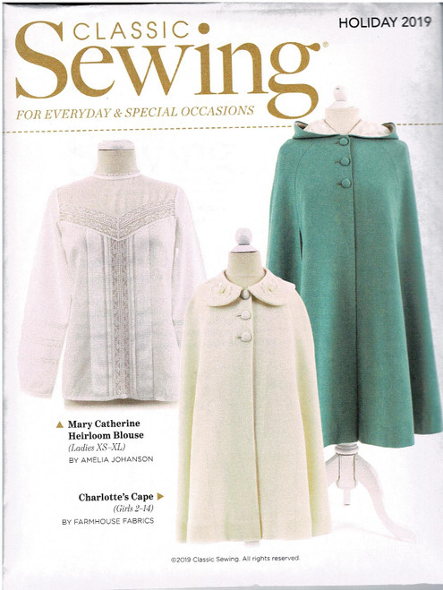 Sewing pattern from Classic sewing magazine Holiday 2019