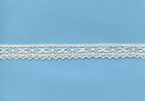 Looped edged edging lace in ecru 1.6 cm wide