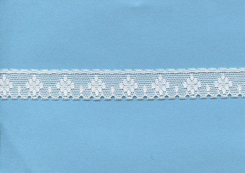Diamond design white edging lace 1.7 cm wide (HOS 4)