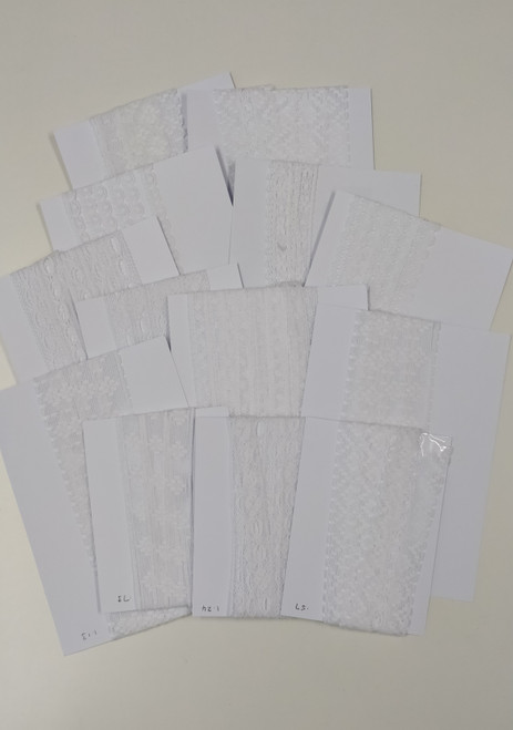 White lace in assorted lengths and styles - 22.85 metres in total