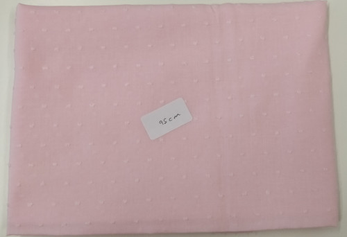 End of roll piece of pink cut spot, 100% cotton, 95 cm x 142 cm, Wash at 30 degrees