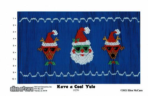 Have a Cool Yule smocking design plate by Ellen McCarn