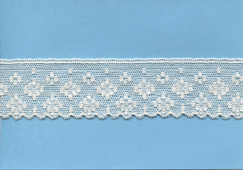 Wide edging lace in ecru 3.5 cm wide