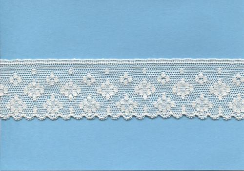 Wide edging lace in ecru 3.5 cm wide