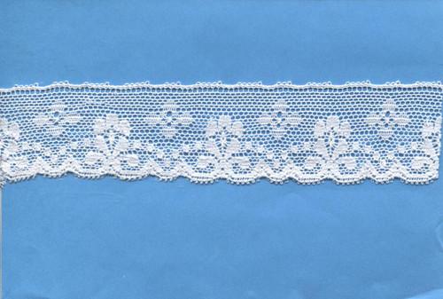 Flower & Spot design edging lace 3.2 cm wide
