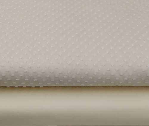 Swiss lemon with white spot fabric shown with lemon lawn - ideal for a dress and petticoat