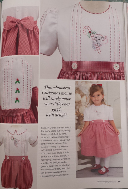Dress with matching boy's outfit from Classic Sewing Magazine Holiday 2017