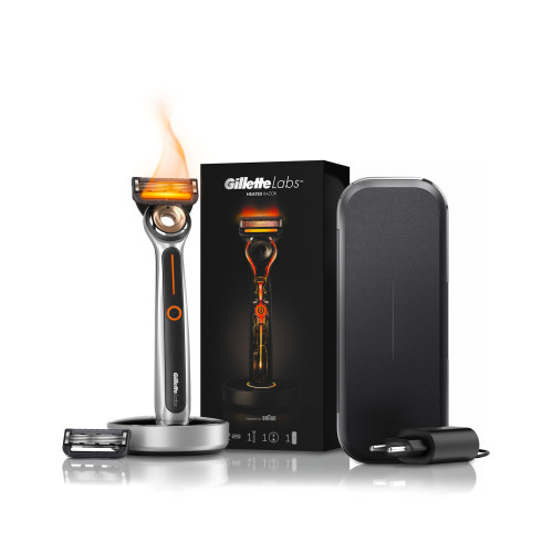 Heated Razor Starter Kit + Charging Travel Case