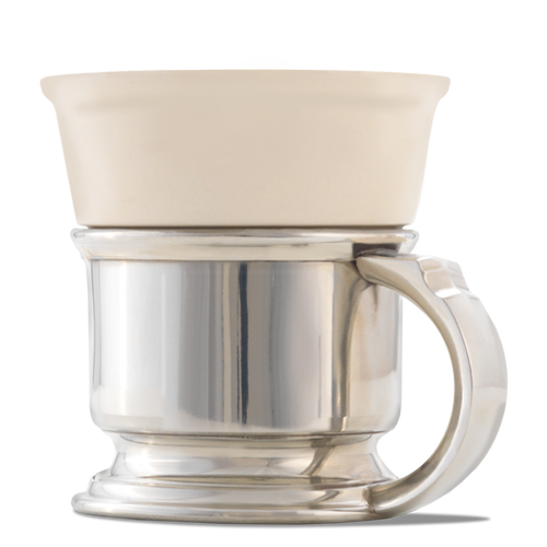 Pewter Shave Mug Caddy