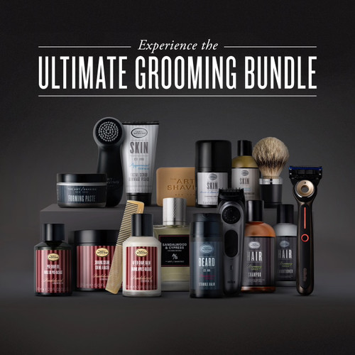 Heated Razor with Sandalwood Ultimate Grooming Experience Bundle