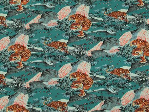 Wholesale Dress Fabric | Tiger Mountain Viscose Crepe - Teal | Fabric Godmother