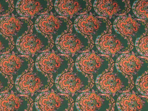 Wholesale Dress Fabric | Paisley Viscose Crepe - Green | Fabric Godmother