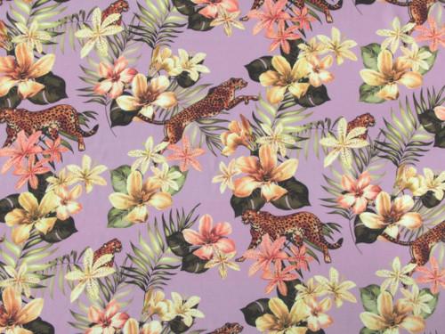 Cheetah Lily Viscose Lawn - Lilac