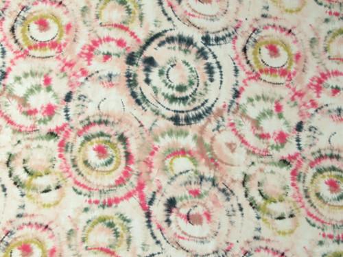 Wholesale Dress Fabric   Cisco Tie Dye Viscose Crepe -Pink   Fabric Godmother