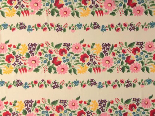 Wholesale Dress Fabric | Joni Floral Stripe Viscose Lawn - Cream| Fabric Godmother