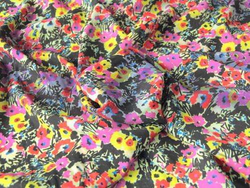 Wholesale Dress Fabric | Floral Haze Viscose Crepe - Multi | Fabric Godmother