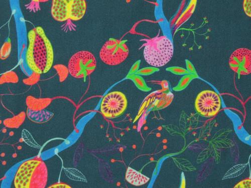 Fruits of Paradise Viscose Lawn - Denim