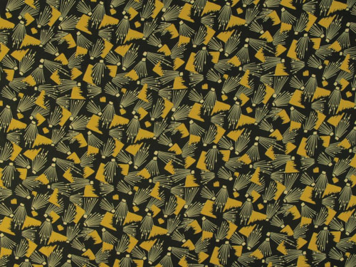 Wholesale Dress Fabric   On the Ritz Viscose Twill - Gold/Green   Fabric Godmother