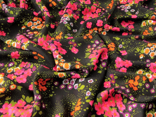 Wholesale Dress Fabric   Bette Viscose Twill - Black   Fabric Godmother