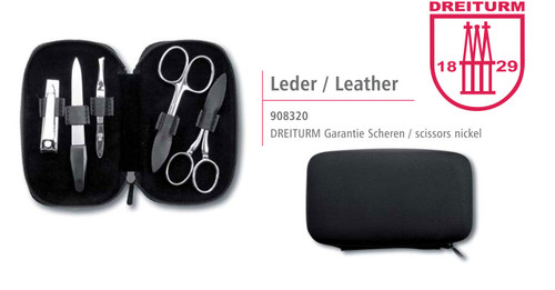 Dreiturm - 6 pc. Manicure set - Zipper Pouch - 908320
